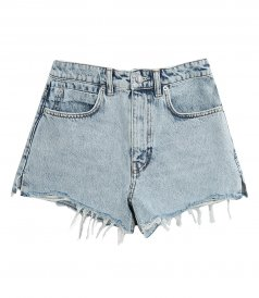 JUST IN - HIGH WAIST SHORT WITH DIPPED BACK
