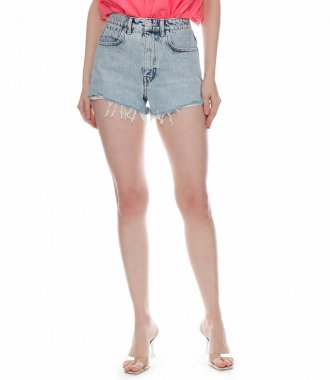 HIGH WAIST SHORT WITH DIPPED BACK