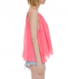 COTTON SILK VOILE TOP