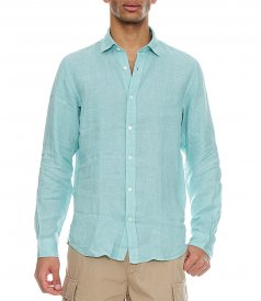 SAMMY PAT LINEN SLIM FIT SHIRT