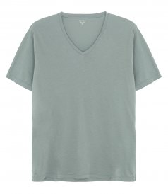 CLOTHES - LIGHT JERSEY V-NECK T-SHIRT