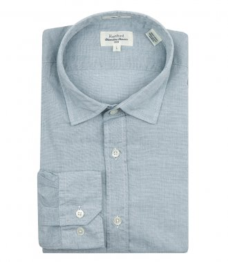 HARTFORD - WASHED COTTON SAMMY SLIM-FIT SHIRT