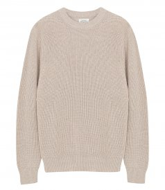 JUST IN - COTTON AND CASHMERE RIB SWEATER