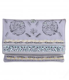 BAGS - CONCHIGLIE EMBROIDERED CLUTCH BAG