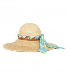 LILLY PRINT SCARF STRAW HAT