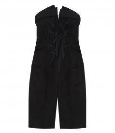 JUMPSUITS - BUSTIER JUMPSUIT IN SHANTUNG