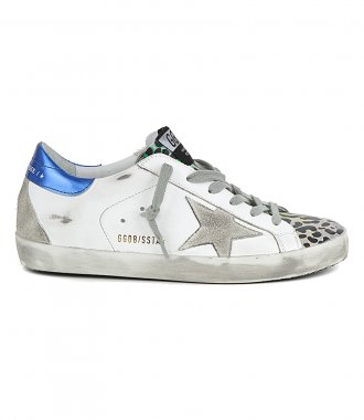 GOLDEN GOOSE  - LEOPARD PRINT TOE SUPERSTAR