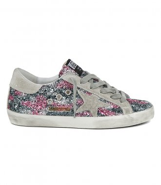 GOLDEN GOOSE  - LEOPARD GLITTER SUPER-STAR