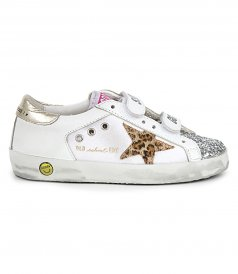 CANVAS WITH HORSY LEO STAR OLD SCHOOL SNEAKERS