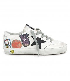 PENSTAR CANVAS WITH STICKERS SUPERSTAR SNEAKERS