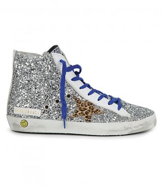 GOLDEN GOOSE  - GLITTER WITH HORSY STAR FRANCY SNEAKERS