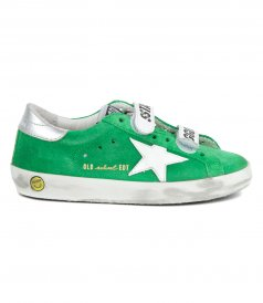 GREEN SUEDE OLD SCHOOL SNEAKERS