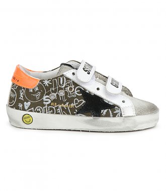 GOLDEN GOOSE  - CANVAS JOURNEY PRINT OLD SCHOOL SNEAKERS
