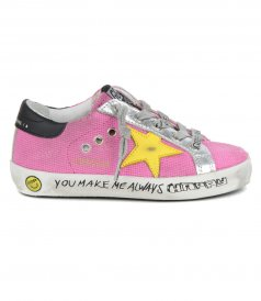 GOLDEN GOOSE  - CANVAS SIGNATURE FOXING SUPERSTAR SNEAKERS