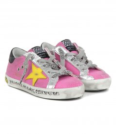 CANVAS SIGNATURE FOXING SUPERSTAR SNEAKERS