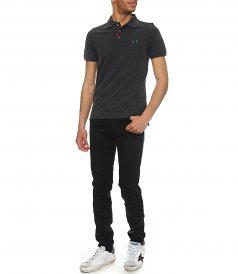 HEAVY MENDING POLO SLIM FIT