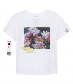 ANIA FLOWERS POSTCARD T-SHIRT