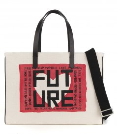 BAGS - EAST-WEST CALIFORNIA BAG WITH 'FUTURE' PRINT