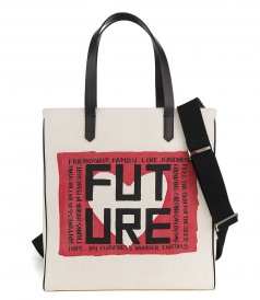 BAGS - NORTH-SOUTH CALIFORNIA BAG WITH ''FUTURE'' PRINT
