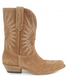 WISH STAR LOW WASHED SUEDE BOOTS