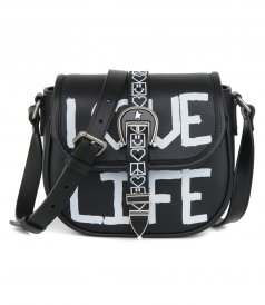 BAGS - MEDIUM RODEO BAG WITH 'LOVE LIFE' SCREEN PRINT