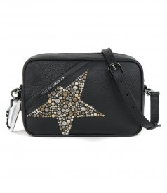 STAR BAG HAMMERED LEATHER BODY STUDDED STAR