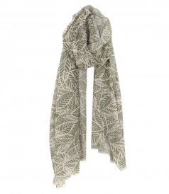 LEAVES COTTON SCARF