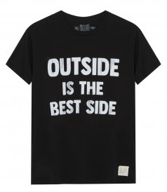 OUTSIDE IS THE BEST SIDE T-SHIRT