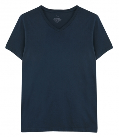 SAVE KHAKI - SS SUPIMA V NECK TEE