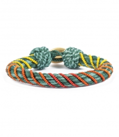 ACCESSORIES - MAYA BRACELET 5mm PASSEMENTERIE OLIVE OR