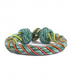 ACCESSORIES - MAYA BRACELET 10mm PASSEMENTERIE OLIVE OR