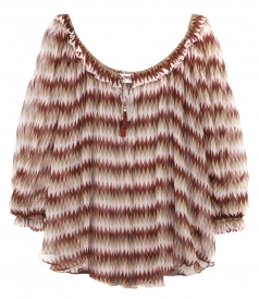 CHROMA GATHERED SCOOP TOP