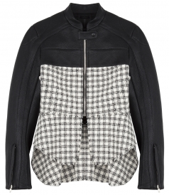 FITTED ZIP HYBRID MOTORJACKET