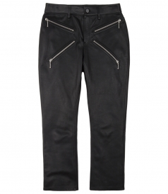 CROPPED BOOTCUT PANT WITH X ZIPPER DETAIL