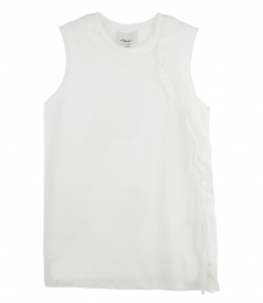 3.1 PHILLIP LIM - TANK WITH CASCADING SILK RIBBONS