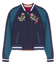 SALES - WILLA REVERSIBLE EMBROIDERED BOMBER JACKET
