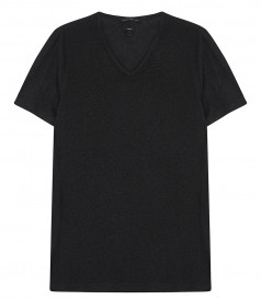 CLOTHES - SHORT SLEEVE KNIT V NECK