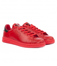 RAF SIMONS STAN SMITH RED SNEAKERS