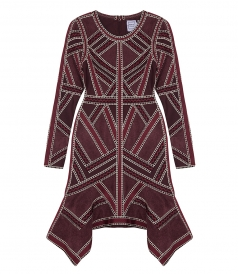 CLOTHES - CARLOTTA GEOMETRIC JACQUARD KNIT COCKTAIL DRESS