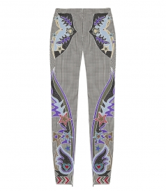 LABYRINTH  EMBROIDERED TROUSERS