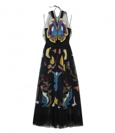 MONROE BUTTERFLY PRINT TULLE DRESS