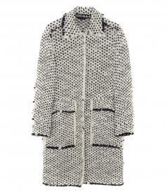 OPEN FRONT WOOL COAT