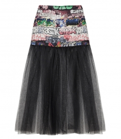GRAFFITI TULLE SKIRT