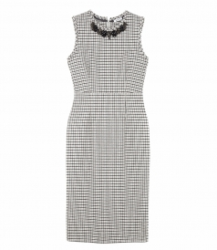 CLOTHES - PIED-DE-POULE SLEEVELESS DRESS