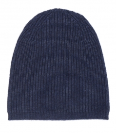 CASHMERE BLEND KNITTED BEANIE