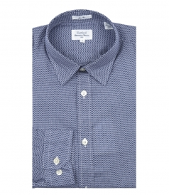 SAMMY MICRO PRINT COTTON SHIRT