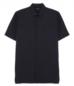 HELMUT LANG - SHORT SLEEVE DOUBLE COLLAR SHIRT