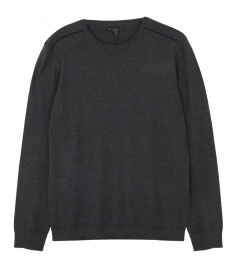 CREW NECK SWEATER WITH SHOULDER PIPING