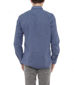 SAMMY MICRO-CHECKED COTTON SHIRT