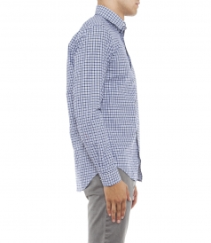 SAMMY LONG SLEEVED MICRO CHECKED SHIRT